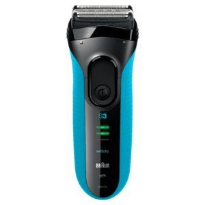 Trockenrasierer Test - Braun Series 3 3040s elektrischer Rasierer, blau